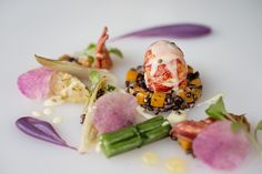 Winter Menu 2013 - Butter Poached Lobster with Red Chicory & Meyer Lemon Butter