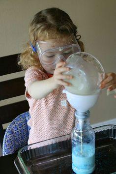 Experimente mit Kindern - Elefant Zahnpaste selber machen