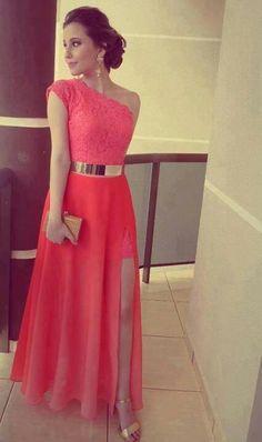 vestidos 2015 cortos juveniles color coral - Buscar con Google