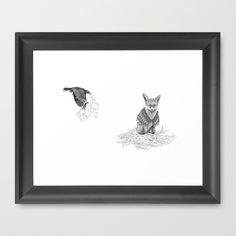 The Fox and The Crow - Tangled  Framed Art Print by Jess Polanshek - $35.00