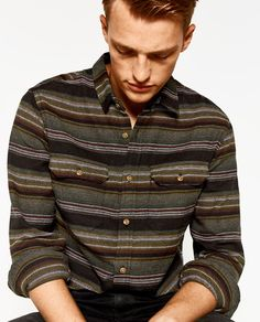 Image 1 of STRIPED SHIRT from Zara