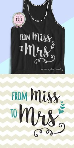From Miss to Mrs Bride Wedding Bachelorette by LoveRiaCharlotte