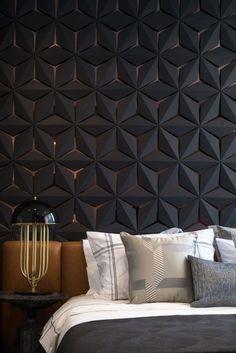 panneau de déco murale - tendances pour chambre en couleur sombre