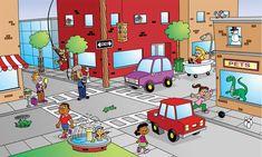 English Activities, Work Activities, Language Activities, Writing Pictures, Picture Writing Prompts, Spot The Difference Kids, Frogs Preschool, Learn Dutch, Hidden Pictures