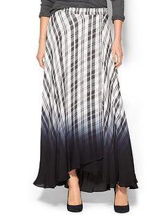ecabb3d2e52 Haute Hippie Plaid Maxi Skirt