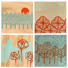 Aqua and Orange...a great combination. Love this!