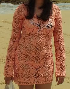 Saída de praia em crochê - Unique Arts