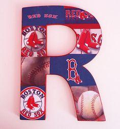 Custom Boston Red Sox Inspired Letter Decor