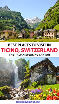 Best things to do in Ticino, Switzerland #ticino #switzerland #switzerlandtravel #europetravel #europetraveltips Switzerland Travel Guide, Switzerland Itinerary, Places In Switzerland, Visit Switzerland, Road Trip Europe, Europe Travel Tips, European Travel, Travel Destinations, Holidays Germany