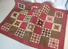 """Blessings Baskets Quilt 17"""" x 23"""" applecore Cheddar Cheese and Crackers Bow Ties ..."""
