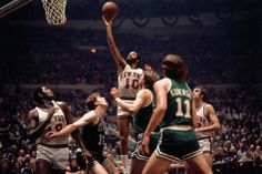 (1972) Walt Frazier's 21 points, 11 rebounds and 7 assists lead NY to the NBA Finals.