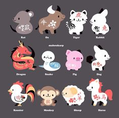 Chinese Zodiac Signs | @mahoukarp
