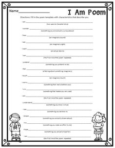 Who's Who and Who's New: I Am Poems {A fun end of the year activity}