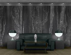 Selbstklebende Tapete - Fototapete Wald No.MW20 Wohnwald #Holz #Tapete #Natur #Natürlichkeit #Wald #Baum