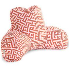 Majestic Home Goods Towers Indoor/Outdoor Bed Rest Pillow Color: Orange