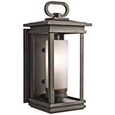 "Kichler South Hope 19 3/4"" High Bronze Outdoor Wall Light - #Y7402 | LampsPlus.com 1-100W"