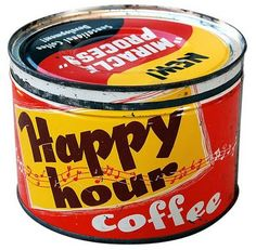 vintage coffee tin, by flickr user roadsidepictures (via delicious industries)