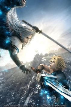 FF VII: Advent Children Cloud VS. Sephiroth