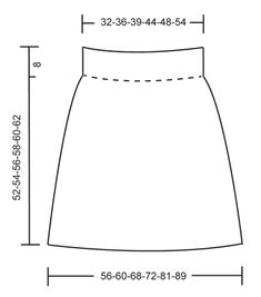 """First Lady - Knitted DROPS skirt in """"Fabel"""" or """"Flora"""". Size: S - XXXL. - Free pattern by DROPS Design"""