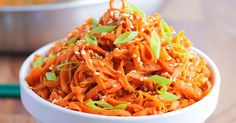 Spicy Peanut Carrot Noodles | Recipe | Powder, Sprays and Sauces