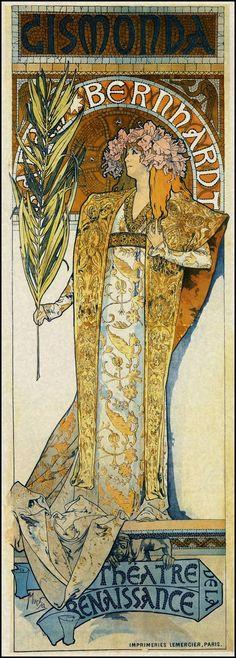 Gismonda - Alphonse Mucha - Art Nouveau