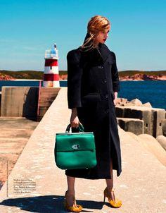 Anne Marie van Dijk by Barrie Hullegie for Elle Netherlands