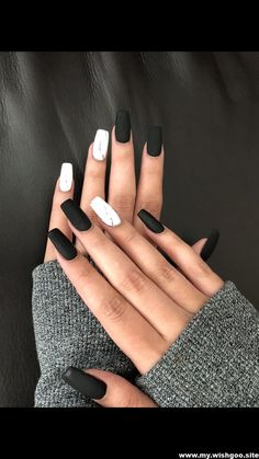 100 Black and White Acrylic Coffin Nails Ideas in 2019 Page 55 . , 100 black and white acrylic coffin nails ideas in 2019 page 55 # , White Acrylic Nails, Best Acrylic Nails, Matte Nails, Gradient Nails, Holographic Nails, Gold Nails, Stiletto Nails, Acrylic Art, Cute Black Nails