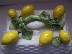 Rare Tiffany & Co Italian Ceramic Lemon Motif Box by MaisonettedeMadness, $ 115.00