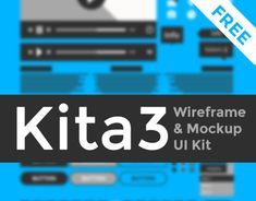 """Check out this @Behance project: """"Kita3 : Wireframe & Mockup UI Kit"""" https://www.behance.net/gallery/15866297/Kita3-Wireframe-Mockup-UI-Kit"""