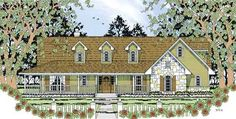 Country Style House Plans - 2001 Square Foot Home , 1 Story, 3 Bedroom and 2 Bath, 2 Garage Stalls by Monster House Plans - Plan 75-405 Favorite House Plan So Far!!