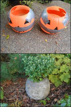 Decorate Your Garden This Fall by Making This Concrete Pumpkin Planter