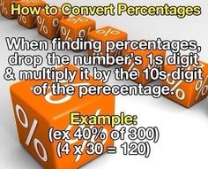 How To Convert Percentages - #Math, #MathTip, #MathTips, #Percentages