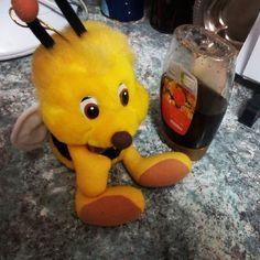 Trini y la miel #abejas #softtoys #animales #peluches #pelucheando