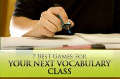 Seven familiar games you can adapt to teach vocabulary. This could be used for all levels of English speakers (based on the difficulty of the words) or in a regular education classroom. Vocabulary Strategies, Vocabulary Instruction, Teaching Vocabulary, Teaching Language Arts, Vocabulary Activities, Teaching Writing, Teaching Spanish, Teaching Tips, Teaching English