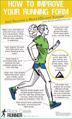 Become a more efficient runner by improving your running form.