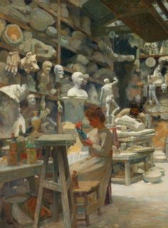 Claude Firmin. Detail form The studio of caster Sadaune, 1901.