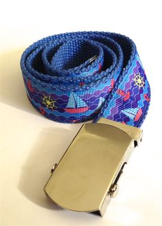 Child's Belt: Nautical Sail Boats on Blue Handmade Market, Handmade Gifts, Sail Boats, Gifts For Boys, Nautical, Buy And Sell, Belt, Children, Crafts