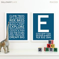Baby Boy Art Boy Nursery Art Subway Playroom Rules Sign Baby Boys Room Decor Nursery Monogram Birth Announcement Baby Name Letter 11x14 via Etsy