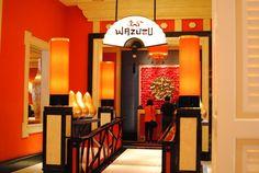 Aesthetic Asian Restaurant Interior Design with Warm Circumstance : Modern Asian Restaurant Interior Design Of Wazuzu At Encore Las Vegas Exteroior