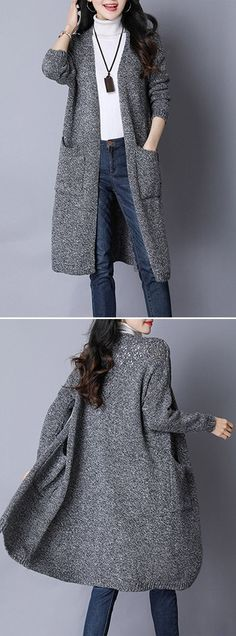 [Newchic Online Shopping] 49%OFF Casual Women Cardigans #casualwinteroutfit
