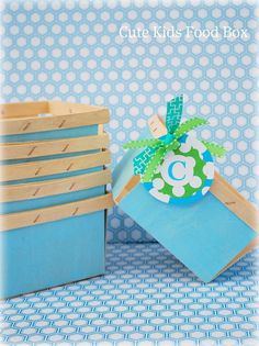 Berry Basket - Wood Berry - Blue Wooden Berry Basket Set of 6 - Picnic Basket - Lunch Box - Wedding & Party Favor Box