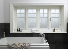 The appropriately named flush casement window sees the frame and window sash sitting itself flat across the outer surface when the window is closed. Casement Windows, Window Glazing, Window Design, Windows, House, Timber Windows, Window Trim Exterior, Window Installation, Traditional Windows
