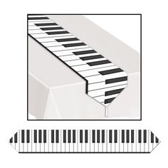 Printed Piano Style Table Runner