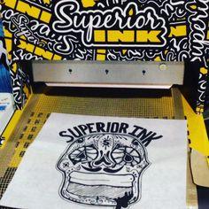 live printing goin down #fashion #apparel #printing #denver #5280 #screenprint #superiorink