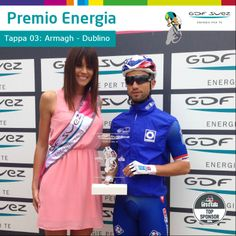 """Premio Energia per la tappa 3. All'arrivo di Dublino è il francese Nacer Bouhanni il più """"energetico""""."""
