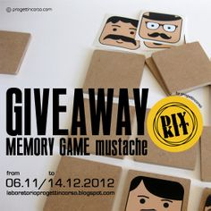 GIVEAWAY MEMORY GAME mustache by progettincorso
