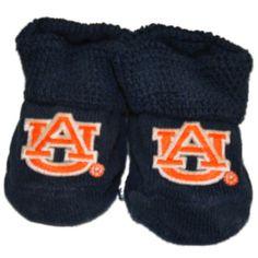Auburn Tigers Two Feet Ahead Infant Baby Newborn Navy Orange Socks Booties