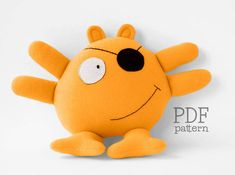 Meet Phil, a fun, cuddly and easy-to-sew pirate plushie. This is a PDF sewing pattern to make a baby safe pirate stuffed toy.  Please note, this is a digital download, and you will not be receiving the finished toy or a kit to make it.  YOU WILL RECEIVE • 19 pages of detailed photo step-by-step tutorial to get you through the process without hassle; • 5 pages of full-size pattern pieces.  To open PDF files, you will need Adobe Reader, you can get it here: http://get.adobe.com/r...