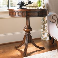 Living Room Accents Round Pedestal Accent Table by Hooker Furniture at Jacksonville Furniture Mart