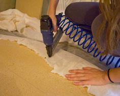 DIY Upholstered tufted headboard